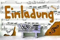 Einladung  feel music 2 von Angela Parszyk