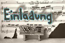 Einladung  feel music 3 by Angela Parszyk