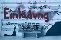 Einladung  feel music 4 by Angela Parszyk