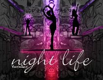 Night Life pink by Angela Parszyk
