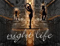 Night Life gold von Angela Parszyk