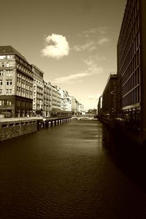 Hamburg - Alsterarkarden von Angela Parszyk