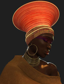 Zulu Female 3d model Angle2 by Daniel Berroteran