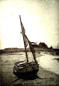 Fischerboot vor Hooge von Dieter Tautz
