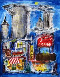 New York bei Nacht von Nils Schillgalies