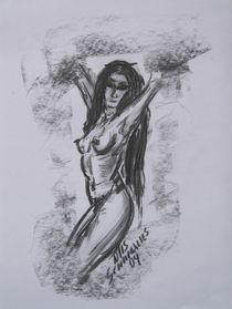Skizze Frau 4 von Nils Schillgalies