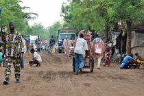 Strassenbild in Bamako, Mali von Walter Vymyslicky