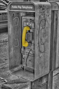 NY Telefonzelle BW by Sascha Kiener