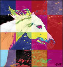 Pferdeportrait Popart von Gabriela Wejat-Zaretzke
