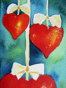 Herzen am Band von farbart