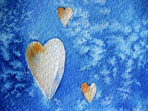 Herzen auf blauem Grund von farbart