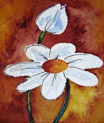 Weiße Blüte abstrakt by farbart