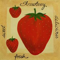 Erdbeere - Acrylmalerei von farbart