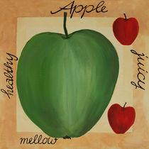 Apfel - Acrylmalerei von farbart