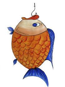 Fisch am Haken von farbart