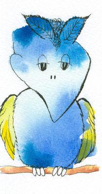 Blauer Vogel by farbart