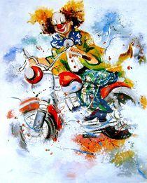 Motorradclown by Barbara Tolnay