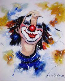 Clownportrait 1 von Barbara Tolnay