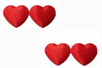 Verbundene Herzen von edler