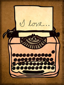 Handwriting Typewriter I love by hannah