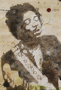 Jimi Hendrix on Paper von Smitty Brandner