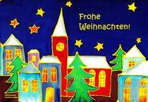 Verschneite Stadt by Caroline Lembke