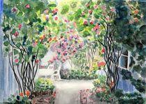 Rosenpracht im Innenhof,Vadstena in Schweden von Caroline Lembke