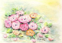 Zarte Rosenblüten von Caroline Lembke