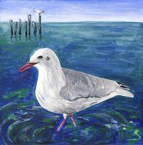 Möwe im Wasser by Caroline Lembke