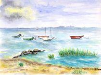 Strand bei Loissin im Sommer von Caroline Lembke