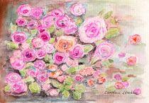 Rosenblüten  von Caroline Lembke