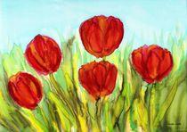Frühlingsboten - Red Tulips von Caroline Lembke