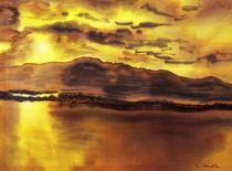 Goldener Sonnenuntergang - Peaceful von Caroline Lembke