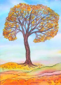 Herbstbaum - tree in Autumn by Caroline Lembke