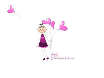 pueppi and the heartballoons von Beatrice Amberg