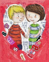 Emma und Louis - rot von Anna Eckert