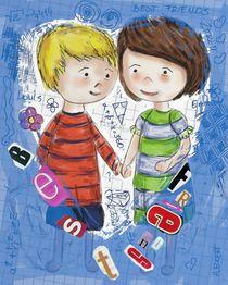 Emma und Louis - blau by Anna Eckert