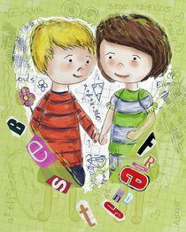 Emma und Louis - grün by Anna Eckert