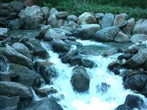 Flusstal in der Abenddämmerung by mondschwester