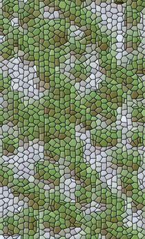 grüne Ode im hellblauen Mosaik by mondschwester