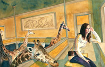 Elvira und Giraffen by Frederik Mettjes
