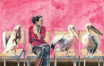 Inga und Rosa Pelikane by Frederik Mettjes