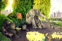 Elefant im Park von Frederik Mettjes