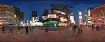 New York - Time Square at Night von Michael Hundrieser