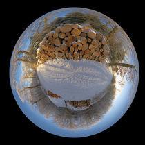 Polarer Holzstapel by Michael Hundrieser
