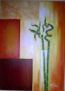 Glücksbambus in Vase von Brigitte Hohner