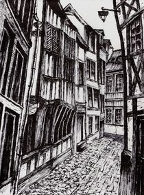 Gasse in Rouen (Normandie) von Thomas Bley