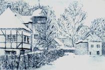 Verschneite Hoflößnitz (Radebeul) von Thomas Bley