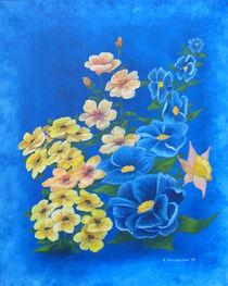 Blüten blau von Helga Mosbacher