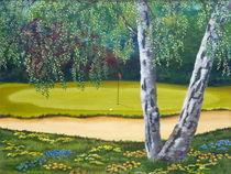 Birkengrün von Helga Mosbacher